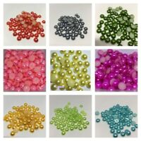 Flatback half pearls, 3-12mm  FREE P&P var sizes and colours - 4 for price of 3
