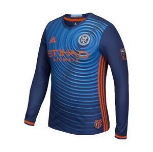 NYCFC Authentic MLS Long Sleeve Jersey Size M New York City Football Club NEW