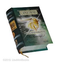 Capricornio o perseverante signo do zodíaco miniature book in portuguese easy