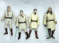 Star Wars Jedi Action Figure Bundle - Qui- Gon Jinn - Obi Wan Kenobi - Hasbro