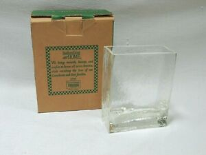 """Rectangular Vase Southern Living at Home """"Our Versatile Vase"""" Heavy Glass #40277"""