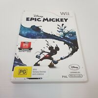 DISNEY EPIC MICKEY Wii (Nintendo Wii) PAL Video Game - Complete