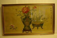 Vintage Ming Dynasty Chinese Painting By Zhou Zhi Ming (周之冕)