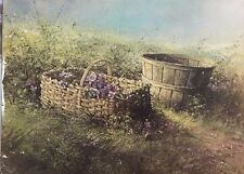 Adolph Sehring, Purple Flowers in Basket-Floral-Art For sale