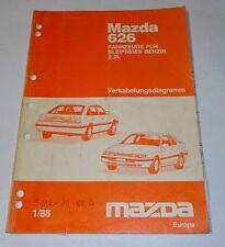Werkstatthandbuch Mazda 626 Typ GD / GV 2,2l Elektrik Schaltpläne, Stand 01/1988