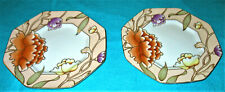"Set of 2 Fitz and Floyd ""Fleur de Chine"" Dessert/Salad Plates"