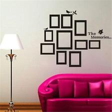 DIY Black Picture 10 Photo Frame Set Wall Sticker Vinyl Art Decal Decor Bedroom『