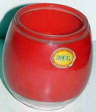 Vintage Ruby & Clear Dietz Lantern Globe