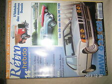Retro Hebdo n°81 BMW 635 CSI Camion Dennis Jaguar XK 120
