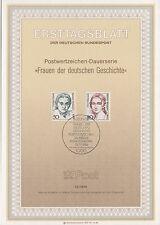 TIMBRE FDC ALLEMAGNE BERLIN OBL ERSTTAGSBLATT CHRISTINE TEUSCH CLARA SCHUMAN1986