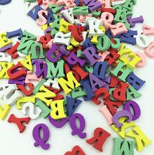 100 stk Vermischt Alphabet Buchstaben Holz Scrapbooking Pädagogische 15mm