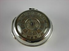 Antique early English Verge Fusee key wind pocket watch c.1748 Champlit dial!