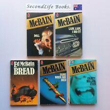 x5 ED McBAIN Vintage Mystery Novels ~ Doll Lady Bread Died Eyes. PAN CRIME.