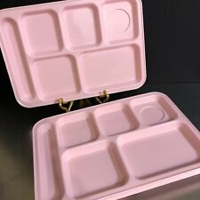 Pottery Barn Kids Cafeteria Lunch Sectioned Trays Set 4 Pink Plastic Day Care