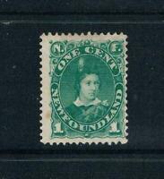 Newfoundland - 1897 - 1¢ Prince of Wales - Green - SC 45 [SG 63a] MINT 20-R