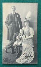 More details for antique signed photo king haakon olav queen maude norway child king edward vii