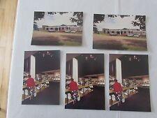 Set 5 VINTAGE CASA Hardy Alnwick canna da pesca mulinello affrontare MUSEUM shop cartolina