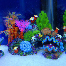 NEW Aquarium Resin Coral Cave Reef Mountain Fish Tank Ornament Quarium Decor