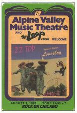 Zz Top Loverboy 1981 Loco Tour Radio Promotional Backstage Pass Alpine Valley