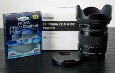 Sigma 17-70mm F2.8-4 DC Macro OS HSM para CANON + Hoya Pro UV Filtro 72mm (en Caja)