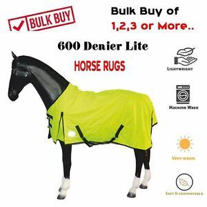 600 Reflex Denier Horse Turnout Rug Waterproof Fleece Lined Teflon 6'3 Set Buy
