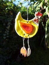 Ceramic chicken hanging art, handmade, handcrafted beautiful colors farm shop 6