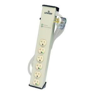 Leviton 120-Volt 20 Amp 6 ft. 6-Outlet Surge Protected Tamper-Resistant Strip