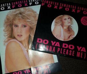 """Samantha Fox 'do Ya Do Ya (wanna please me) Original 12"""" Single + Poster"""