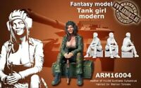 1:35 Resin Figure Model Kit Sexy Girl Tank Modern WWII Unpainted Unassembled