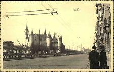 Antwerpen Anvers Belgien 1941 Real-Poto die alte Burg am Hafen Echtfoto-AK