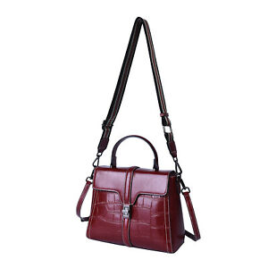 Hong Kong Closeout Collection Red Leather Croc Embossed Flap Convertible Bag