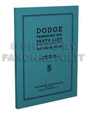 1935 Dodge Car Illustrated Master Parts Book 35 DU DUX Part Manual Catalog List