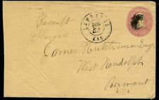 Circa 1860s Cover Lawrence Kansas to West Randolph Vermont