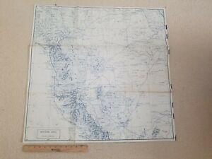Circa 1940 Saudi Arabia Linen Map – Military ? WW2?