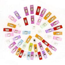 50 tlg Bunte Farben Wonder Clips Nähklammern Stoffklammern Nähzubehör Nähen