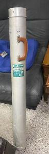 Vintage Flint Arrowhead Aluminum Fishing Rod Case Adjustable Rubber Cushion Ends