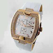 Guess White Leather Strap Ladies Watch U13520L1 NEW WITH TAGS