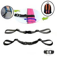 Chest Strap Heavy Duty Adjustable Sternum Belt For Backpack With Buckle Hands AL