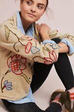 NWT $178 Anthropologie Eryn Embroidered Blazer Jacket Cardigan by Relais sz M