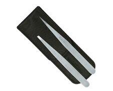 Tweezerman Petite Tweezer Set: Slant Tweezer + Point Tweezer 2 Pack - Black Case
