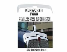KENWORTH T660 STAINLESS STEEL BUG DEFLECTOR