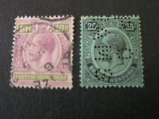 BRITISH HONDURAS, SCOTT # 98/99(2), 10+25c. VALUES KGV 1922-33  ISSUE USED