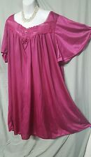 VALENTINE BERRY CALF  LENGTH  NIGHTGOWN WITH LACE DETAIL WOMENS SIZE 4X