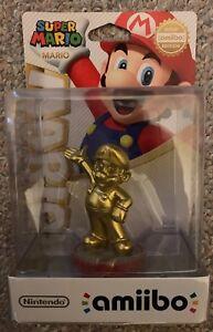 amiibo LIMITED EDITION GOLD MARIO (Super Mario Bros) Nintendo Switch RARE + NEW!