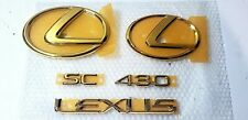 FITS New Lexus SC430 Emblem 24K GOLD COMPLETE CAR KIT 2002 2003 2004 2005