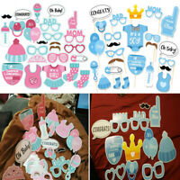 25pcs Baby Shower Photo Booth Props Little Boy Newborn Home Party Decoration