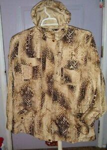 Women's   Ralph Lauren   Snake  print   Rain Coat  w hood    XL  EUC