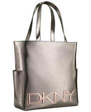 DKNY Women Parfums Silver Dark Weekender Tote Bag Purse Handbag !