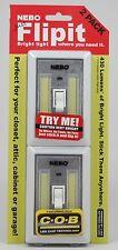 6523 - 2 Pack NEBO FlipIt Light Switch - BRIGHT LIGHT Where You Need It