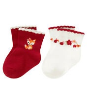 Nwt Gymboree Adorable Fox Socks 2 Pack 6-12 Months Baby Girl